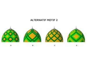kubah masjid, kubah enamel, motif kubah, desain, waran