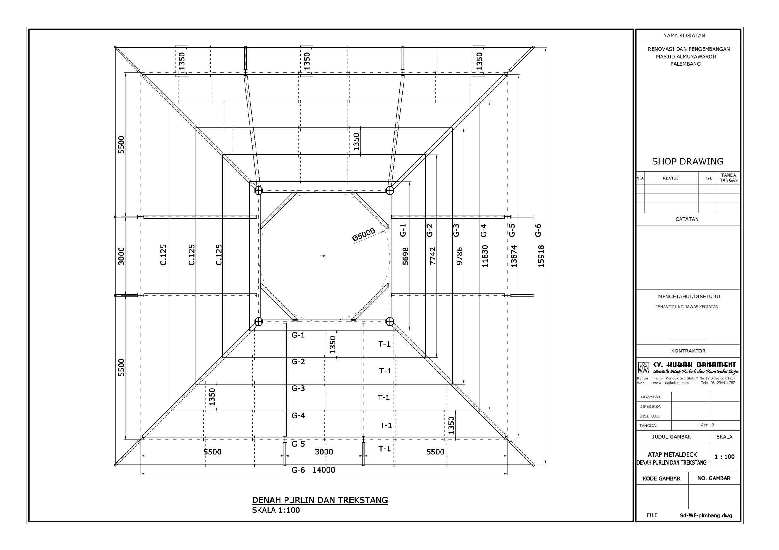 Denah Rumah Diameter 10 Meter