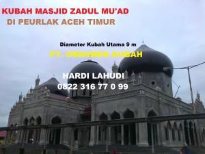 Kubah-Masjid-Zadul Muad-Peurlak-Aceh Timur