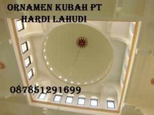 Plafond Kubah Putih Polos Masjid Sedayu Raci Tengah Gresik