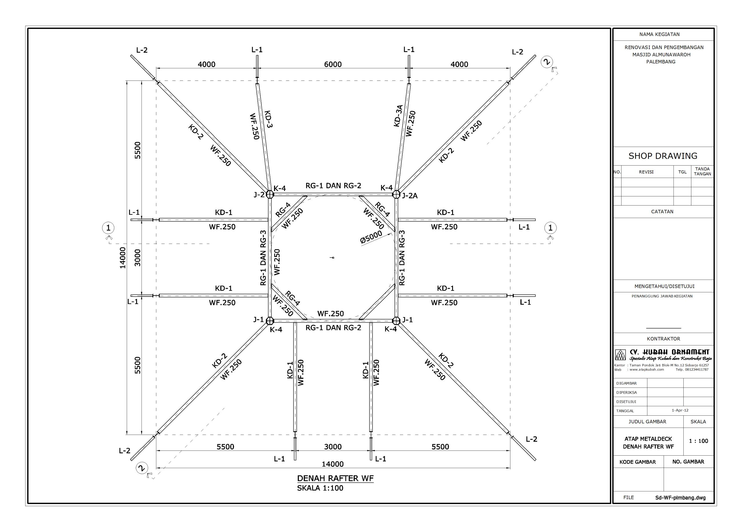 Desain Konstruksi Baja Atap Wf Konstruksi Besi Baja Berat Cv