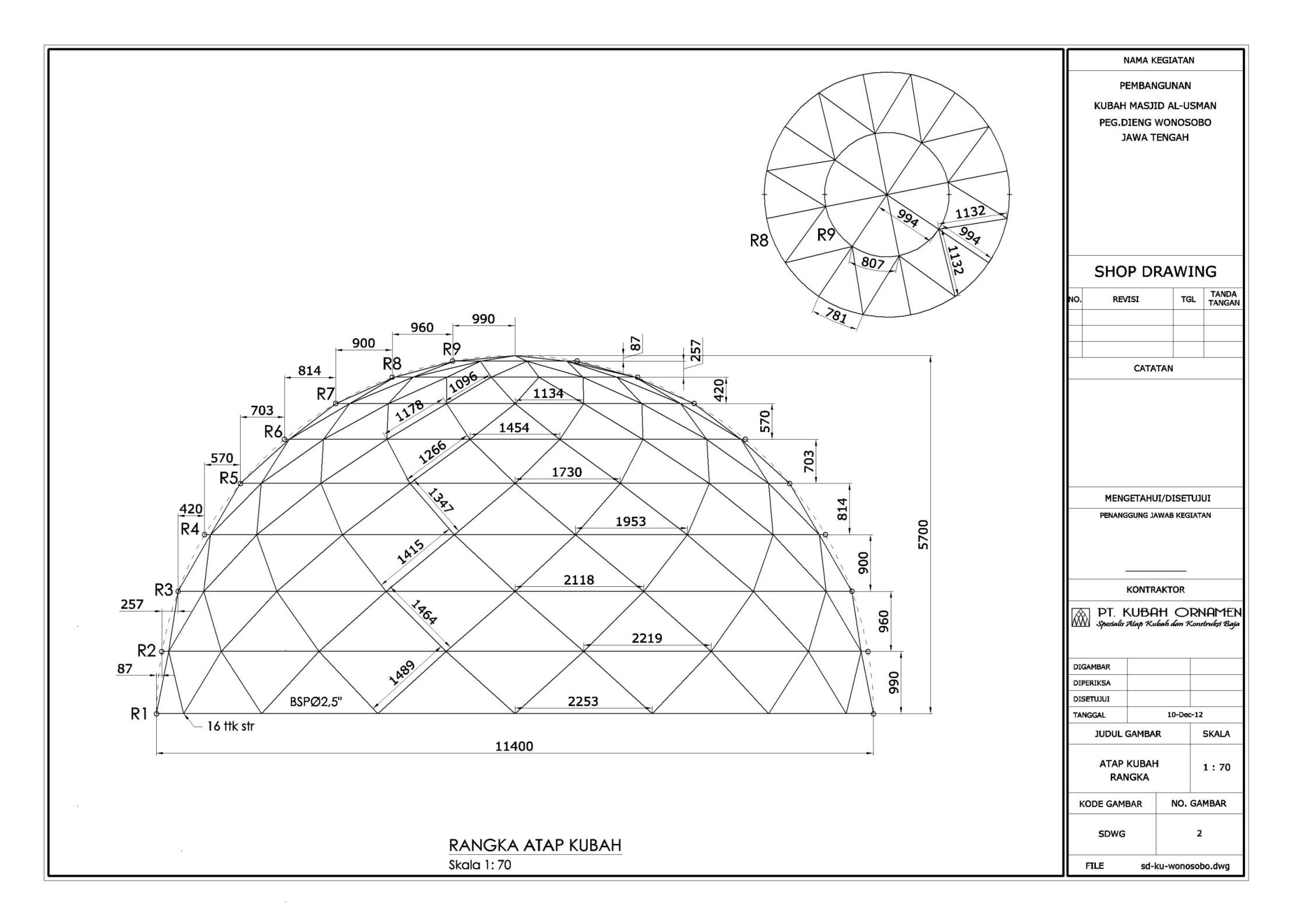 contoh,gambar,rangka,kubah,masjid,pipa,atap