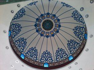 Plafond Motif Ornamen Kubah Masjid Belitung